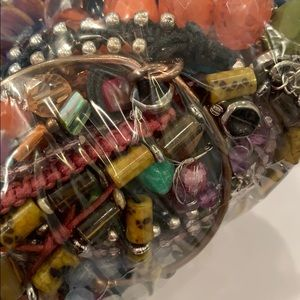 Craft repurpose junk jewelry bag wearable repair